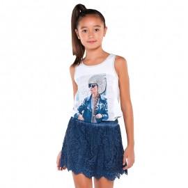 Mayoral 6098-66 Koszulka ramiączka dziewcz. kolor Szary