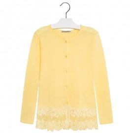 Mayoral 6320-88 Sweter rozp. trykot z haftem kolor Żółty