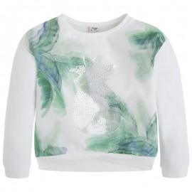 Mayoral 6408-28 bluza z organzą kolor Biały