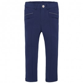 Mayoral 3708-82 Jeginsy jeansy dzianina kolor Granatowy