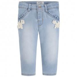Mayoral 1536-82 Spodnie długie jeans aplikacj kolor Bleached