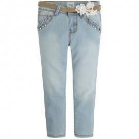 Mayoral 3526-10 Spodnie długie z koronką kolor Bleached