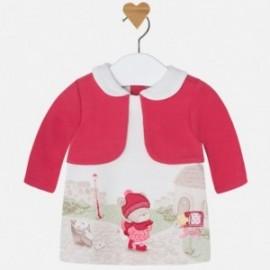 Mayoral 2812-94 Sukienka aplikacja sweterek kolor Teaberry