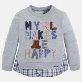 "Mayoral 4444-19 Pulower ""myrl makes me happy"" kolor Srebrny"