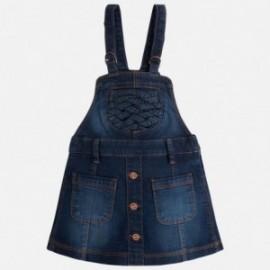 Mayoral 4926-28 Spódnica na szelkach jeans kolor Ciemny