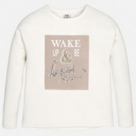 "Mayoral 7430-26 Sweter ""wake up be happy"" kolor Len"
