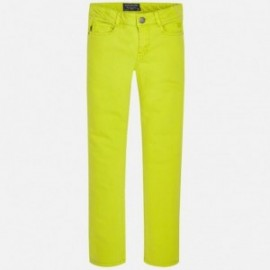 Mayoral 7508-61 Spodnie serżą elastan kolor Seledyn