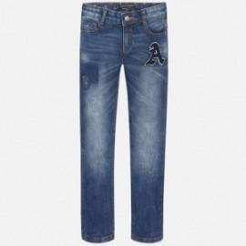 Mayoral 7512-16 Spodnie jeans fantazja kolor Ciemny