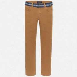 Mayoral 7514-82 Spodnie sprane z paskiem kolor Makadamia