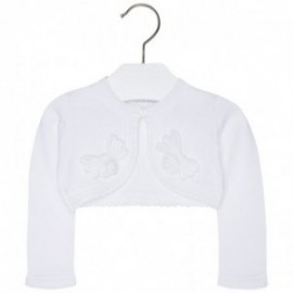 Mayoral 1324-43 Sweterek trykot aplikacja kolor Biały