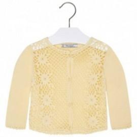 Mayoral 1328-50 Sweter rozp.dzian. szydełko kolor Rumianek