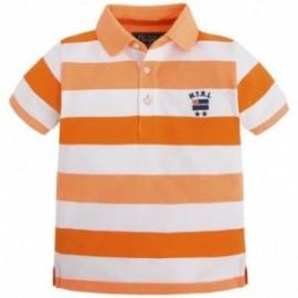 Mayoral 3120-15 Koszulka polo krót.ręk.paski kolor Papaja