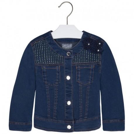 Mayoral 3430-11 Kurtka jeans z koronką kolor Ciemny