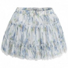 Mayoral 3906-90 Spódnica z falbankami kolor błękitny