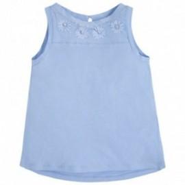 Mayoral 6096-40 Koszulka ramiączka kamienie kolor błękitny