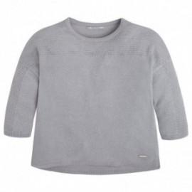 Mayoral 6310-59 Sweter trykot ażurowy kolor Posrebrzan