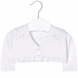 Mayoral 1306-70 Sweter rozp. ażurowy kolor Biały