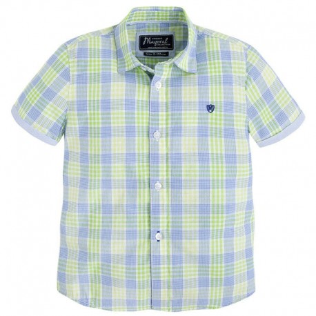 Mayoral 3138-36 Koszula krót.ręk.krata kolor Kwaśny