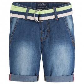 Mayoral 3226-50 Bermudy jeans z paskiem 1 kolor Ciemny