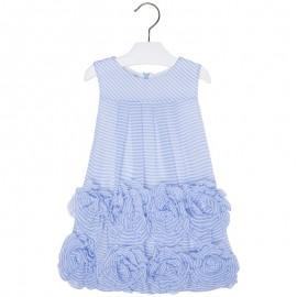 Mayoral 3940-68 Sukienka kwiaty kolor Błękitny