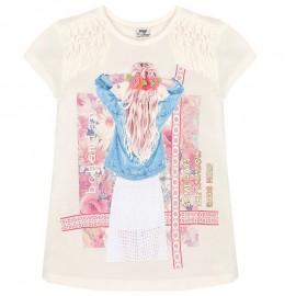 Mayoral 6046-64 Koszulka kr.ręk. napy na ram. kolor Różowy