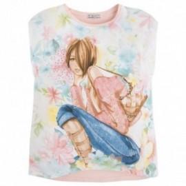 Mayoral 6078-27 Koszulka kr.ręk. dziewcz.pejz kolor Jasny róż.