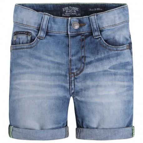 Mayoral 3222-70 Bermudy jeans 5 kieszeni kolor Akwamaryna