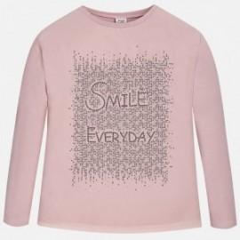 "Mayoral 7044-73 Koszulka d/r ""smile"" kolor Różowy"