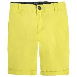 Mayoral 242-10 Bermudy klasyczne serża basic kolor Bananowy