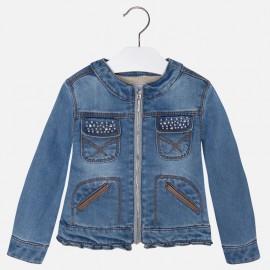 Mayoral 4476-49 Kurtka jeans kieszeń ekoskóra kolor Basic