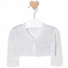 Mayoral 1312-29 Sweter rozp.dzian. błyszcz. kolor Biały