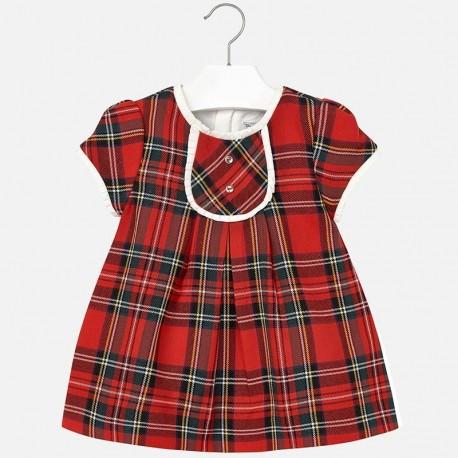 Mayoral 2936-69 Sukienka szkocka krata kolor Czerwony