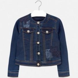 Mayoral 7464-80 Kurtka jeans aplikacja kolor Ciemny