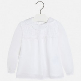 Mayoral 4120-21 Bluzka tiul fantazja kolor Biały
