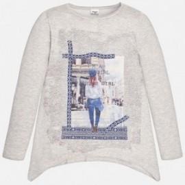Mayoral 7406-35 Pulower spacerująca dziewczyn kolor Cement