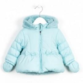 Losan kurtka z rękawiczkami 628-2707AD kolor niebieski pastel