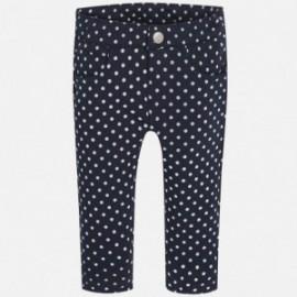 Mayoral 2526-84 Spodnie długie kropki kolor Granatowy