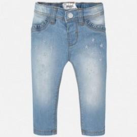 Mayoral 2554-85 Spodnie jeans haft kwiaty kolor Bleached
