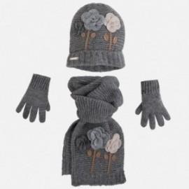 Mayoral 10077-56 Komplet czapka szalik rękawic kolor Gołębi