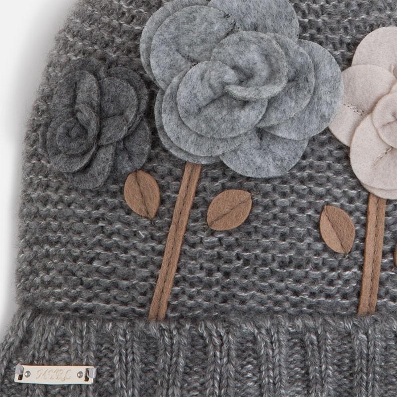 5ca1aac1a4432b Mayoral 10077-56 Komplet czapka szalik rękawic kolor Gołębi