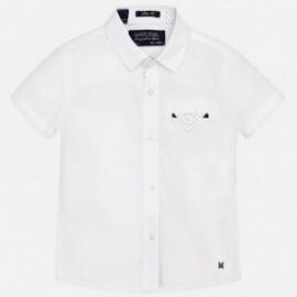 Mayoral 1151-44 Koszula k/r gładka detale kolor Biały