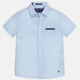 Mayoral 1151-43 Koszula k/r gładka detale kolor Błękitny