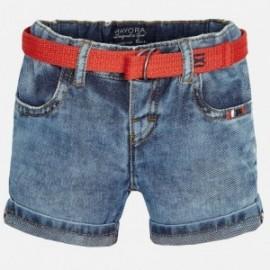 Mayoral 1267-5 Bermudy jeans z paskiem kolor Jeans