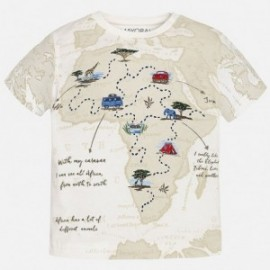 Mayoral 1031-10 Koszulka krót.ręk.mapa kolor śmietanka