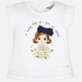 Mayoral 1045-72 Koszulka k/r dziewcz.bukiecik kolor Granatowy