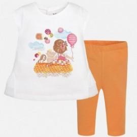Mayoral 1792-36 Komplet leginsy dziewcz.jeans kolor Pomarałcz.