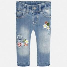 Mayoral 1545-5 Spodnie jeans z haftem kolor Jeans