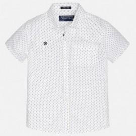 Mayoral 6125-45 Koszula krót.ręk. nadruk kolor Biały