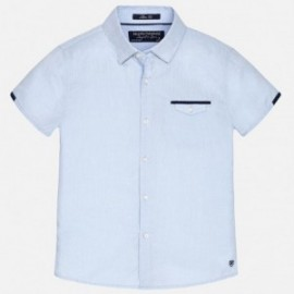 Mayoral 6127-45 Koszula krót. ręk. detale kolor Błękitny