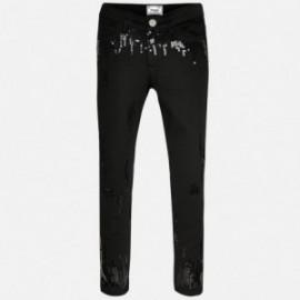 Mayoral 6535-56 Spodnie serża cekiny kolor Czarny
